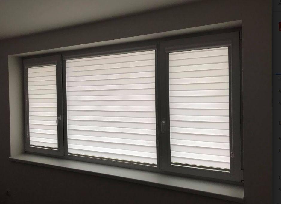 Roleta DenNoc uchycená přímo na okně nebrání nijak větrání a otvírání oken